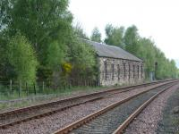 Abandoned building that was once part of the former Edinburgh, Perth & Dundee works, situated Northwest of Ladybank station alongside the Perth line. <br><br>[Brian Forbes&nbsp;01/05/2007]