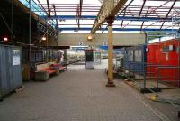 The concourse at Gourock on 29 April, with building materials, Portakabins and scaffolding very much the order of the day. <br><br>[John Furnevel&nbsp;/04/2007]