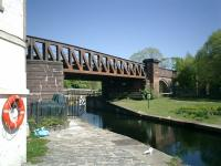 Caledonian Railway Lanarkshire and Dumbartonshire line bridge over Forth & Clyde Canal at Bowling.<br><br>[Alistair MacKenzie 02/05/2007]