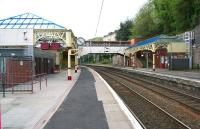 A station with lots of character (and characters). View east along the platforms at Port Glasgow. April 2007. <br><br>[John Furnevel&nbsp;29/04/2007]