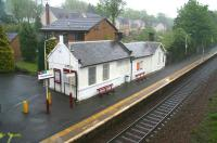The station building at Thorntonhall in the pouring rain on the morning of 6 May 2007. View towards East Kilbride.<br><br>[John Furnevel&nbsp;06/05/2007]