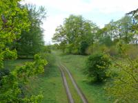 View towards Stanley Junction, from overbridge at Ballathie Hotel, east of the former station. The view looks to the former station.<br><br>[Brian Forbes&nbsp;08/05/2007]