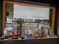 Window display at Pitlochry Station Bookshop - see news item.<br><br>[John Yellowlees&nbsp;/07/2012]