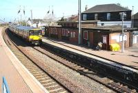 A Glasgow Central - Ayr service passes through Newton-on-Ayr station on 3 May 2007.<br><br>[John Furnevel&nbsp;03/05/2007]
