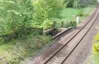 Remains of down platform at Killiecrankie<br><br>[Brian Forbes&nbsp;15/05/2007]