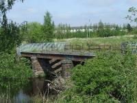 Rail Bridge at Cart Junction that took the railway to Bridge of Weir and Kilmacolm. The trackbed here is now blocked by the A737<br><br>[Graham Morgan 04/05/2007]