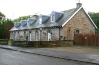 The old station building at Crookston on 20 May 2007, successfully restored following serious fire damage and now in use as residential accommodation. <br><br>[John Furnevel 20/05/2007]