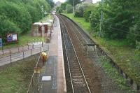 View east over Corkerhill station on 20 May 2007 from Corkerhill Road bridge. [See image 19972]<br><br>[John Furnevel&nbsp;20/05/2007]