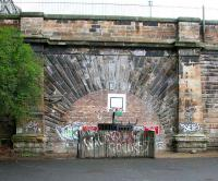North portal of Scotland Street Tunnel from the site of the former station in May 2007.<br><br>[John Furnevel&nbsp;27/05/2007]