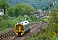 Semaphores still operational on the down line at Larbert on 28 May with the 11.33 Edinburgh - Dunblane passing. <br><br>[Bill Roberton&nbsp;28/05/2007]