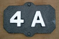 Track feature ID plate, re-painted.<br><br>[Alistair MacKenzie&nbsp;23/11/1979]