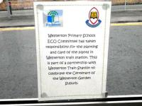 Notice posted by Westerton Primary School at their local station in January 2013 - see news item.<br><br>[ScotRail&nbsp;24/01/2013]