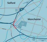 A map showing the location of the proposed Ordsall Chord. See news item.<br><br>[Network Rail&nbsp;20/11/2012]