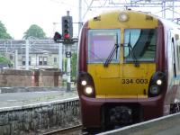 334003 pulling into Platform 2 of Paisley Gilmour Street with a Wemyss Bay service<br><br>[Graham Morgan&nbsp;23/05/2007]