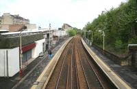 A quiet Sunday morning at Clarkston. View north over the station on 6 May 2007.<br><br>[John Furnevel 06/05/2007]