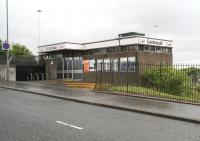 Main entrance to Cardonald station on Berryknowes Road. May 2007.<br><br>[John Furnevel&nbsp;20/05/2007]
