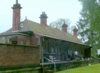 A look at St Fillans station building. Gables have been extended out to the platform edge. This station has been closed for more years than it was open.<br><br>[Brian Forbes&nbsp;04/06/2006]
