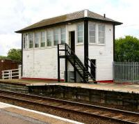 The signal box at the southwest corner of Girvan station. May 2007.<br><br>[John Furnevel&nbsp;31/05/2007]
