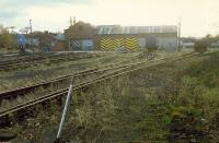 Ferryhill Shed, photographed in November 1988, not long after closure. [Access by kind permission of British Rail]<br><br>[Ewan Crawford&nbsp;03/11/1988]