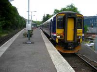 Glasgow bound train about to restart from Arrochar and Tarbet on 28 May 2007.<br><br>[John McIntyre&nbsp;28/05/2007]