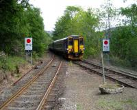 Glasgow bound train running into Arrochar and Tarbet station in 28 May 2007.<br><br>[John McIntyre&nbsp;28/05/2007]