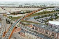 An artist's impression showing one of the proposals for the Ordsall Chord. See news item.<br><br>[Network Rail&nbsp;20/11/2012]