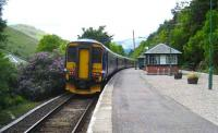 Train for Glasgow Queen Street about to leave Arrochar and Tarbet on 28 May 2007.<br><br>[John McIntyre&nbsp;28/05/2007]