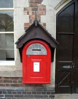 Victorian post box in a funny hat. Llandrindod Wells, May 2007.<br><br>[John McIntyre&nbsp;/05/2007]