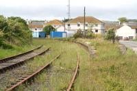 View west from the end of the platforms at the former Stranraer Town on 31 May 2007. The station building has recently been demolished.<br><br>[John Furnevel&nbsp;31/05/2007]