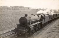 Stranraer - Glasgow express approaching Glengall. Class 5 4.6.0 5119.<br><br>[G H Robin collection by courtesy of the Mitchell Library, Glasgow&nbsp;/09/1940]