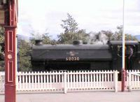NBR saddle tank preserved at Strathspey Railway, sitting in Platform 3.<br><br>[Brian Forbes&nbsp;/05/2006]