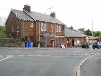 Maybole station frontage on 31 May 2007 looking northwest across Culzean Road. <br><br>[John Furnevel&nbsp;31/05/2007]