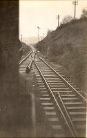 From Pinmore station looking south.<br><br>[G H Robin collection by courtesy of the Mitchell Library, Glasgow&nbsp;/02/1941]