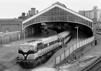 073 at the head of a train at Cork Station in 1988.<br><br>[Bill Roberton&nbsp;//1988]