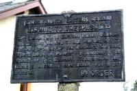 Still standing - old LNER notice in the garden of the station house at Oxton on the former Lauder Light Railway in April 2007. The station closed to passengers in 1932. <br><br>[John Furnevel&nbsp;11/04/2007]