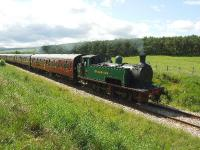Strathspey Railway No.17 is seen nearing Broomhill. Nicely turned out in lined green and named <I>Braeriach</I>. A huge improvement on last year.<br><br>[John Gray&nbsp;18/06/2007]