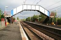Platform view west at Paisley St James on 20 May 2007, looking towards Bishopton.<br><br>[John Furnevel&nbsp;20/05/2007]