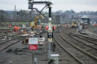 Track renewal and signaling alterations to the south of Montrose station.<br><br>[Duncan Ross&nbsp;02/03/2007]