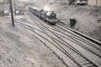 N.B.R. 0.6.0 64542 approaching Alloa on special working. [Railscot note: view looks west with harbour branch to left.]<br><br>[G H Robin collection by courtesy of the Mitchell Library, Glasgow&nbsp;16/06/1951]