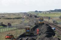 Trackbed preparation at Elliot Junction. View looks to Dundee.<br><br>[Duncan Ross&nbsp;02/03/2007]