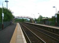 Looking north, Nitshill station, 17 June 2007.<br><br>[John Furnevel&nbsp;/06/2007]