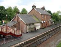 Maybole station, platform side, view southeast in May 2007.<br><br>[John Furnevel&nbsp;31/05/2007]