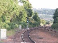 In with the new: single aspect colour light signal South of Larbert Station<br><br>[Paul D Kerr&nbsp;27/06/2007]