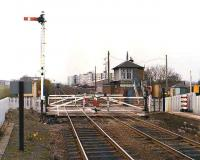 View west over the level crossing at Kingsknowe in 1981.<br><br>[Bill Roberton&nbsp;//1981]