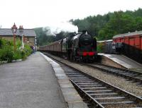 SR Schools class 926 <I>Repton</I> brings a southbound service into Levisham on the NYMR on 23 June. <br><br>[John McIntyre&nbsp;23/06/2007]