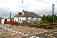 View west over the former Auchengray station and level crossing in June 2007.<br><br>[John Furnevel&nbsp;28/06/2007]
