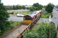 A departmental working from Leith South to Millerhill on 9 July on Seafield LC. <br><br>[John Furnevel&nbsp;09/07/2007]