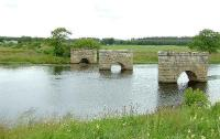 The piers of the viaduct that once carried the GNSR line over the River Spey.<br><br>[John Gray&nbsp;13/07/2007]