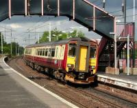 Glasgow Central - Edinburgh Waverley service at Bellshill on 17 July.<br><br>[David Panton&nbsp;17/07/2007]