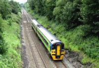 A York - Blackpool service climbs westward between Blackburn and Preston on 14 July near Hoghton.<br><br>[John McIntyre&nbsp;14/07/2007]